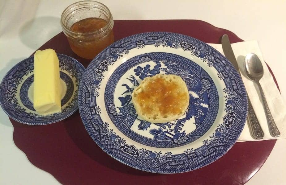 Open Jelly Jar with English Muffin