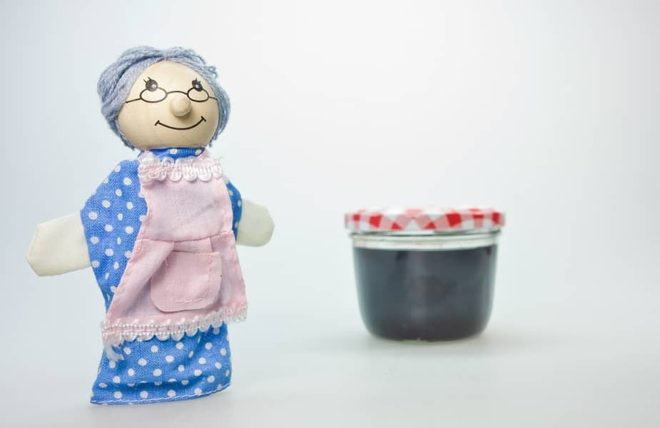 Grandma Doll and a Jar of Jelly