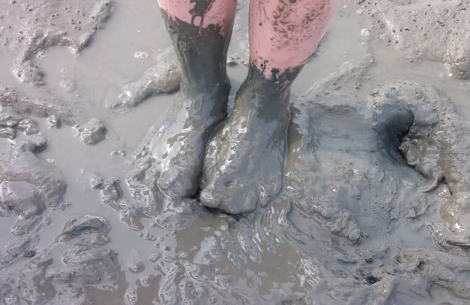 Mud Covered Feet