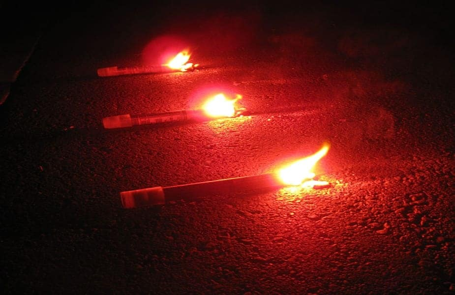 Road Flares Laying on Ground