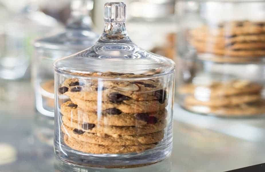 Cookies in a Decorative Glass Container