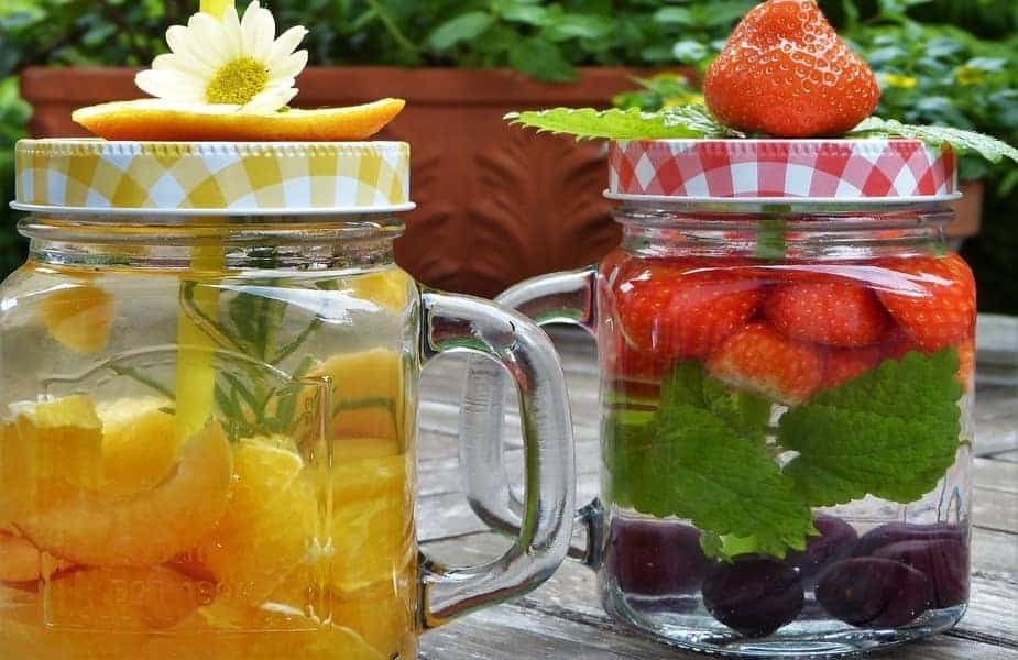 Fruit in Water Jars