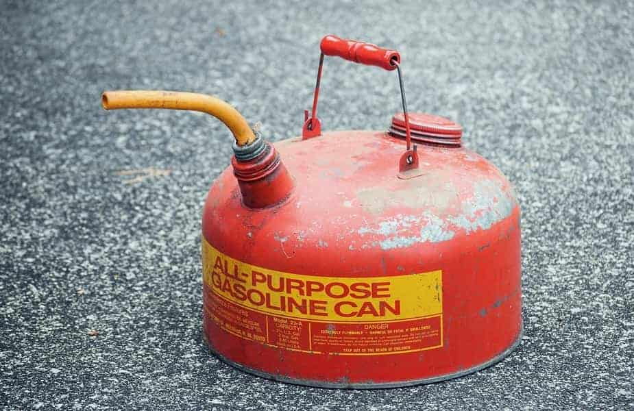 Gas Can on Ground