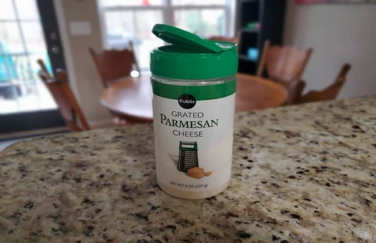 Parmesan Cheese on a Counter