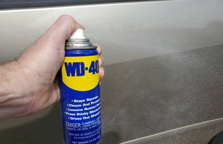 WD-40 Spraying on Car Paint