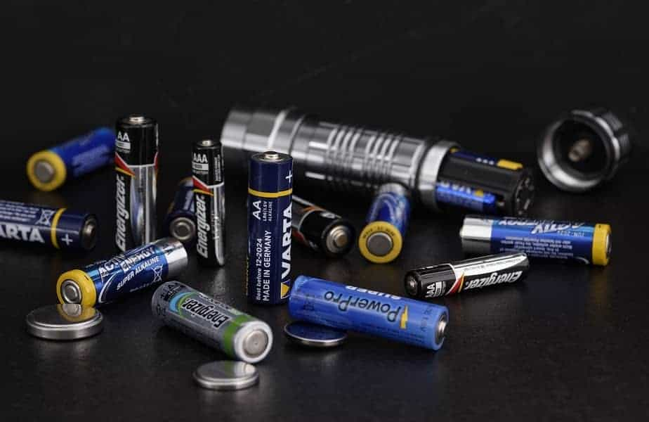Different Types of Batteries Laying on a Table