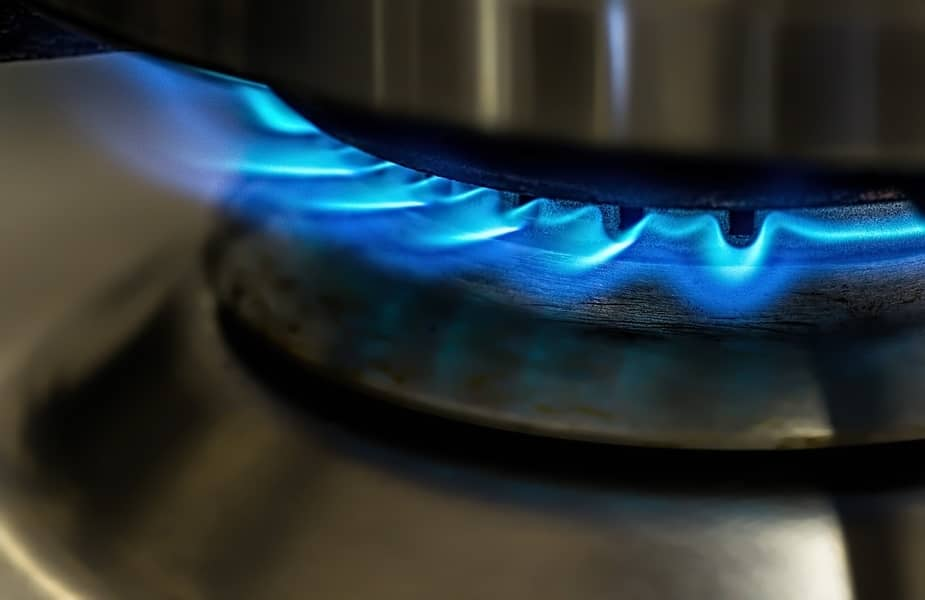 Gas Flame on a Stove