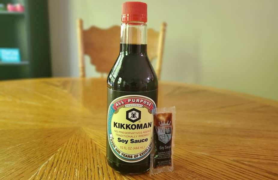 Soy Sauce Bottle and Packet