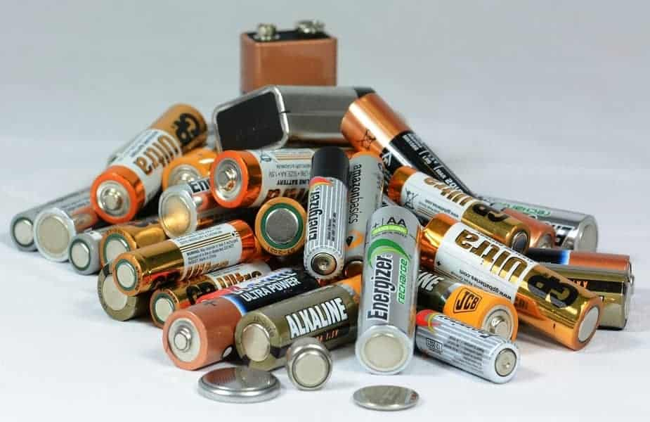 Pile of Assorted Types of Batteries