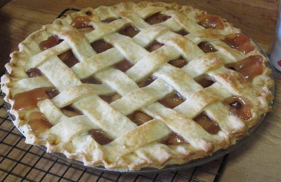 Homemade Apple Pie on a Cooling Rack