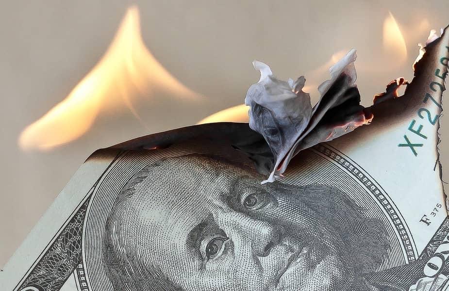 100 Dollar Bill Burning