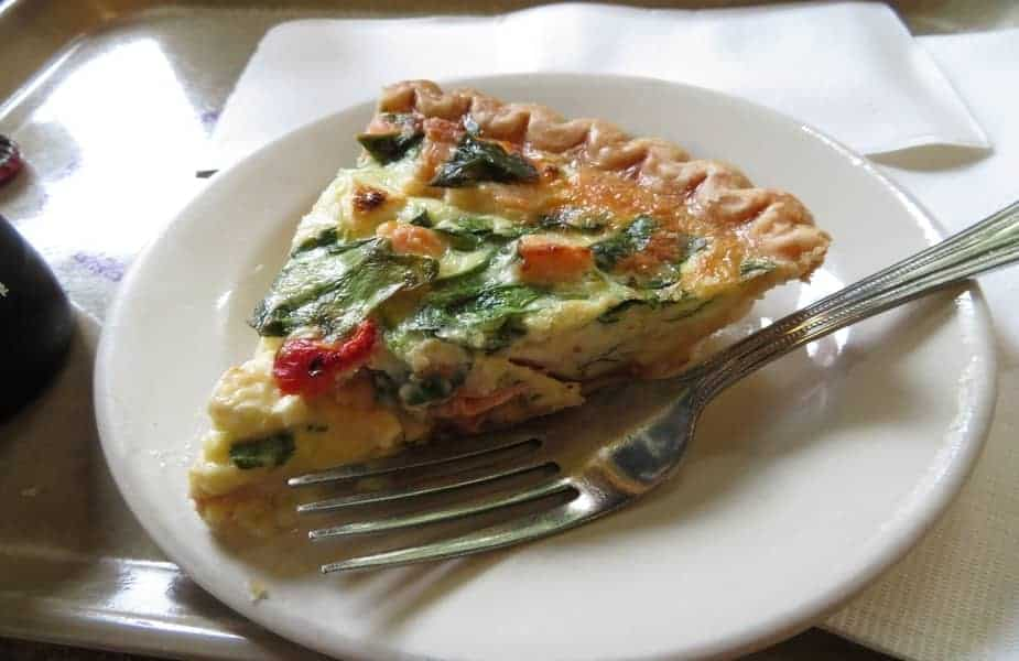 A Slice of Vegetable Quiche