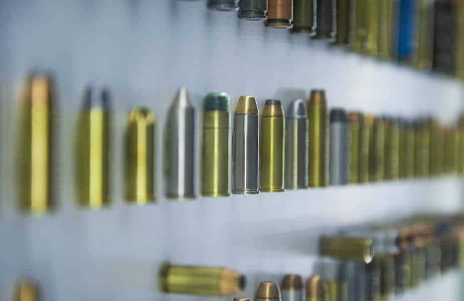 Various Bullets Laid out on a Table