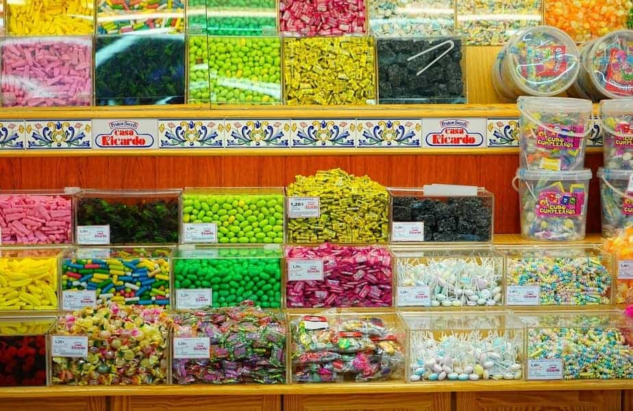 Assorted Candies on a Wall