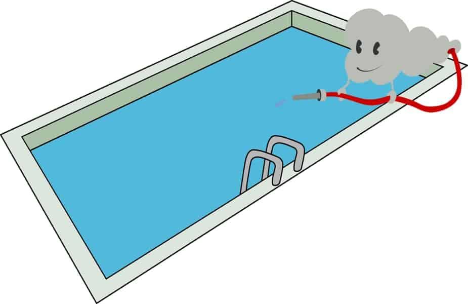 Cloud Filling Swimming Pool