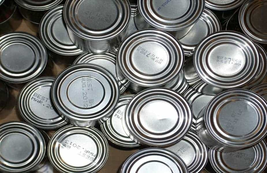 Top View of Numerous Canned Foods