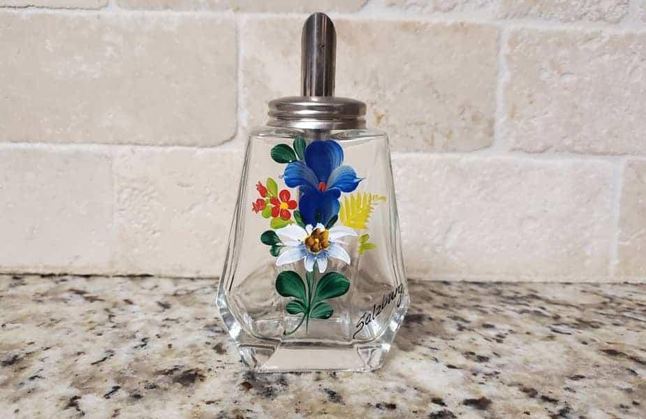 Acrylic Paint on Glass Bottle