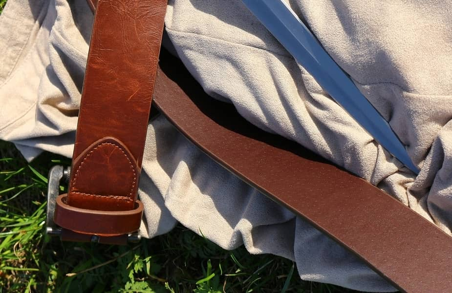 Belt and Pants with Knife Blade Laid Across