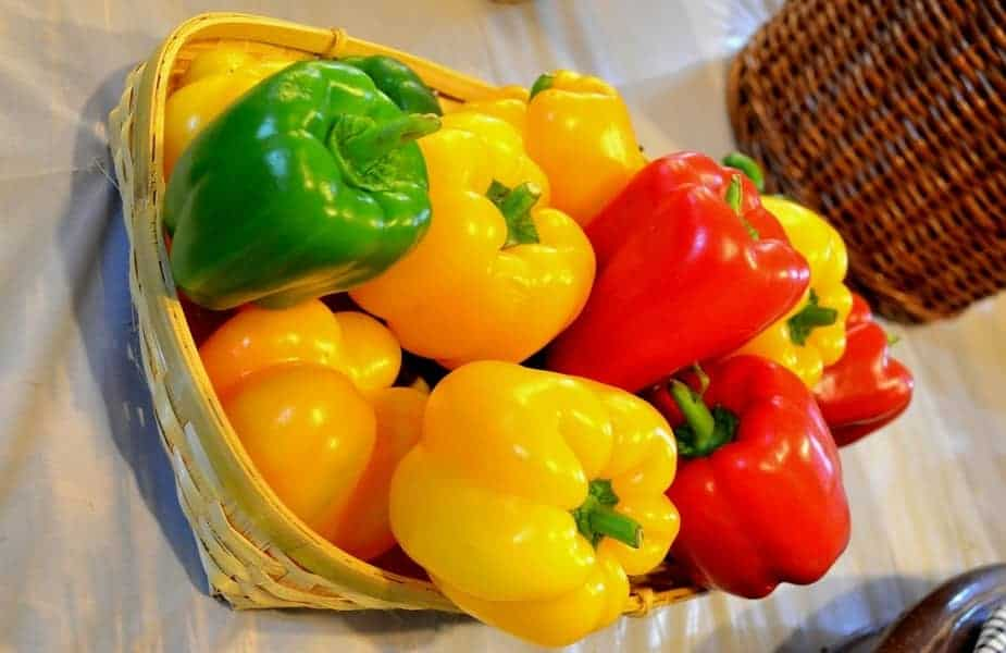 Bell Peppers in a Basket