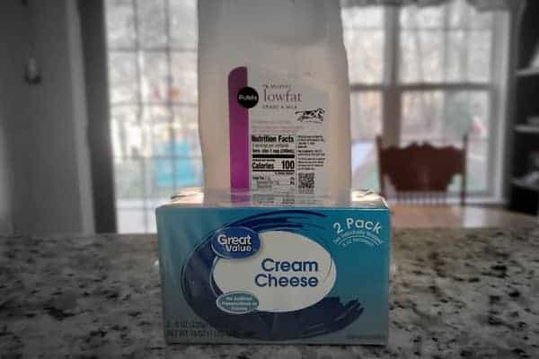Cream-Cheese-in-Front-of-a-Quart-of-Milk