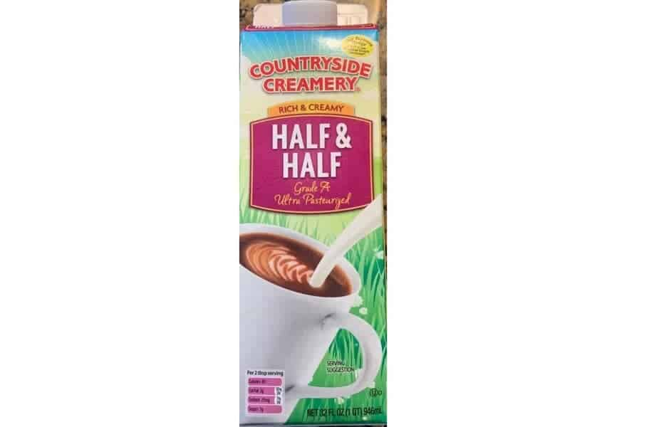 Half and Half Container