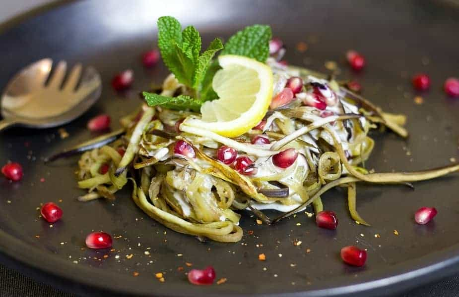 Vegetarian Dish With Mint on Top