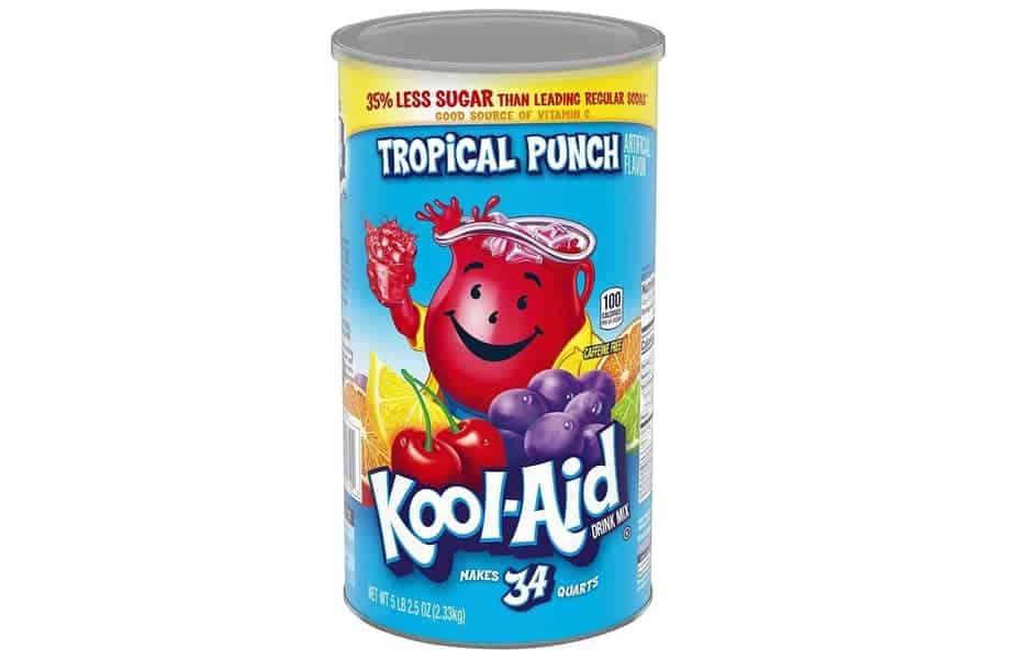 Box of Tropical Punch Kool-aid Mix