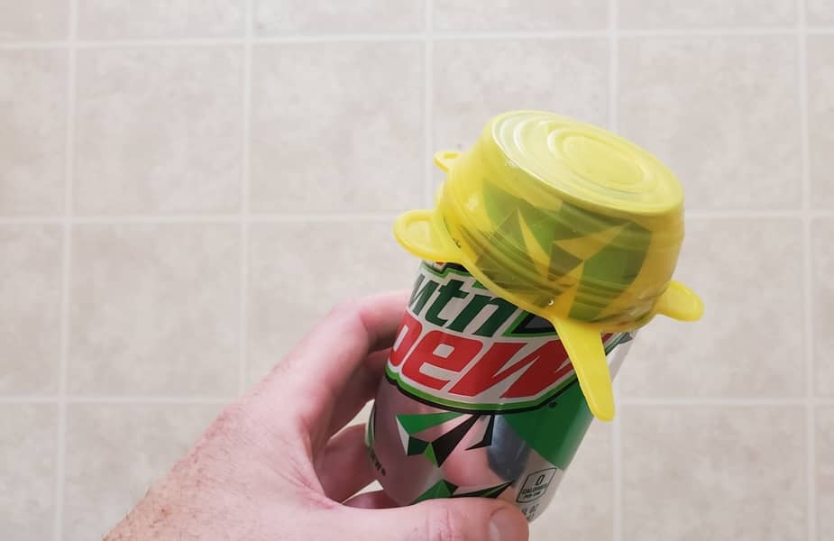 Can-of-Mountain-Dew-with-a-Silicone-Stretch-Cover