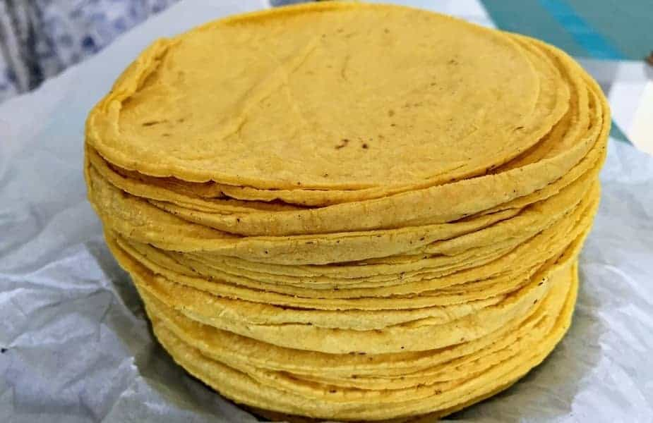 Stack of Corn Tortillas