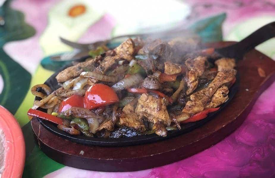 Steak Fajitas on a Plate