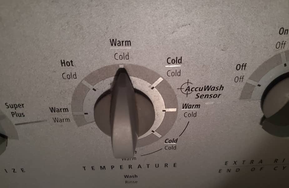 Warm Cold Temperature Setting on a Washer