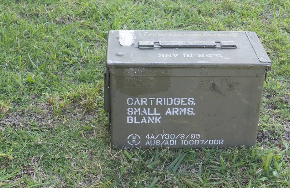 Ammo Can Sitting in the Yard