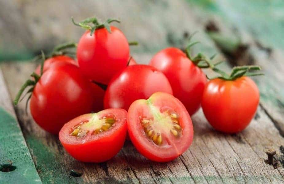 Several-Tomatoes-With-One-Cut-in-Half
