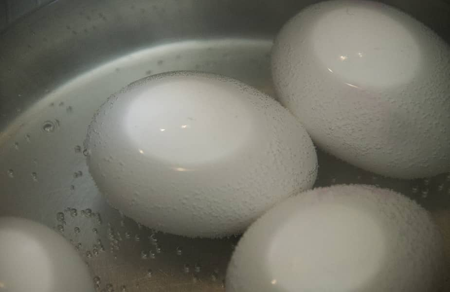 Boiling Eggs in a Pot