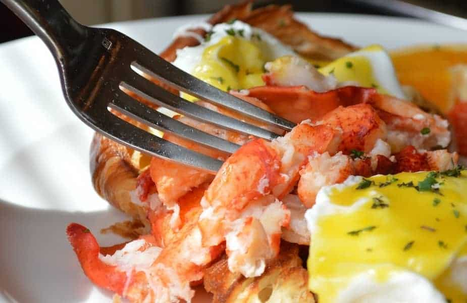 Crab Legs on a Plate With Butter