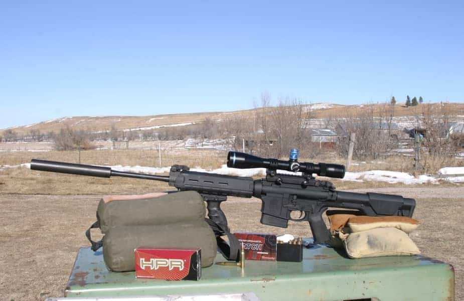AR-10 With Rounds on the Range