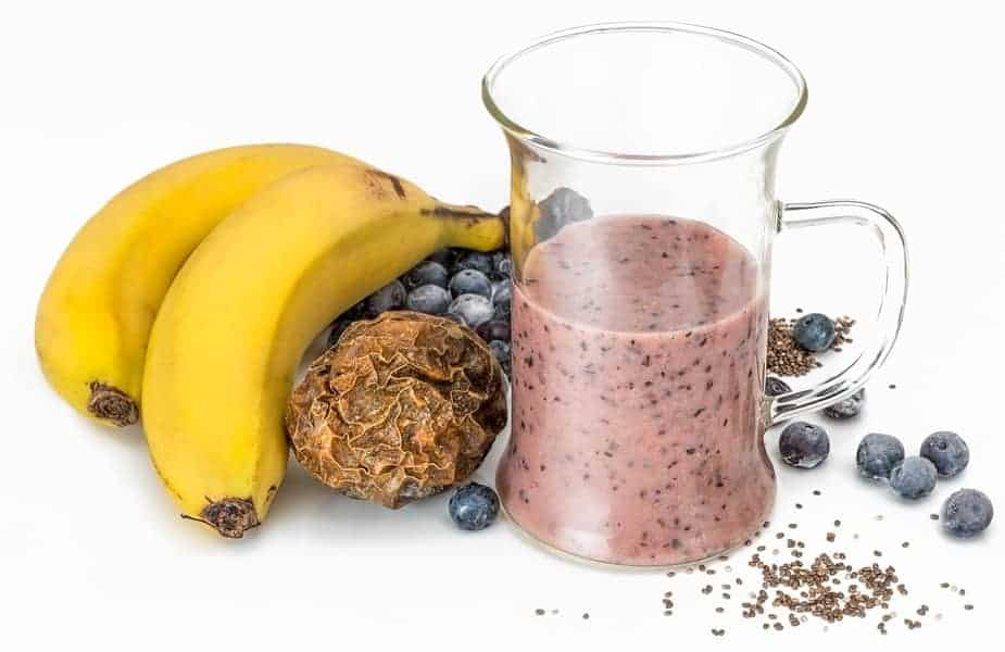 Chia Seed Smoothie With Fruit Nearby