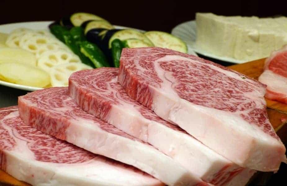 Japanese Beef With Vegetables Behind