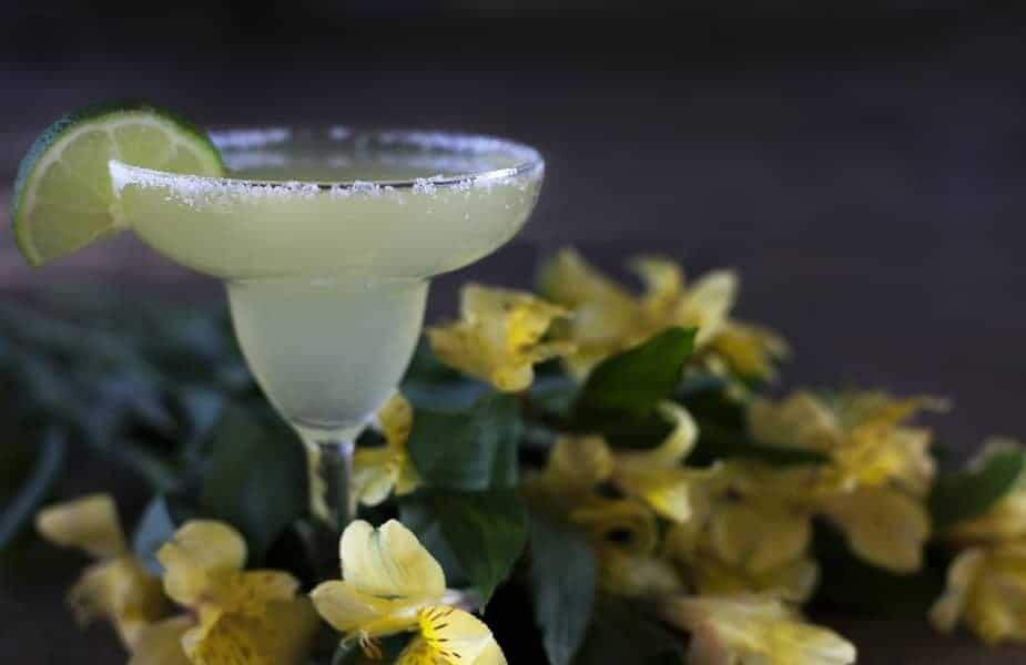 Margarita With Flowers in Background