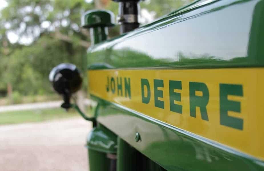 John Deere Tractor Closeup
