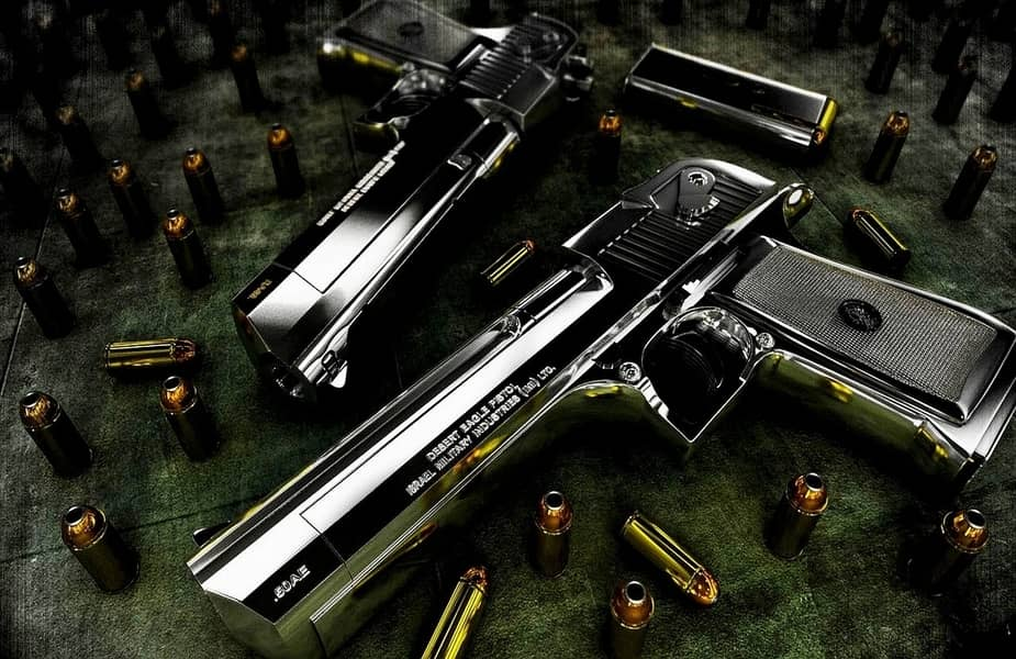 Two Desert Eagles With Different Barrel Lengths
