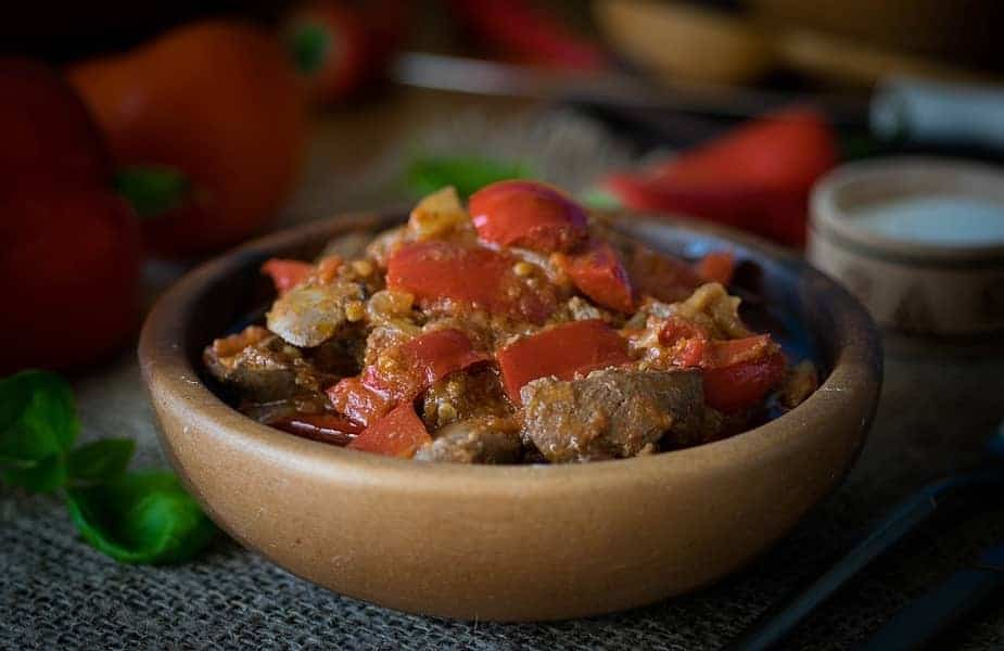 Cooked Chicken Livers in a Bowl