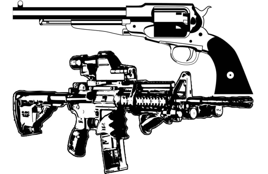 Long Barrel Pistol and a Short Barrel Rifle